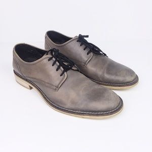"Kenneth Cole ""S'more"" Grey Leather Oxford Shoes"